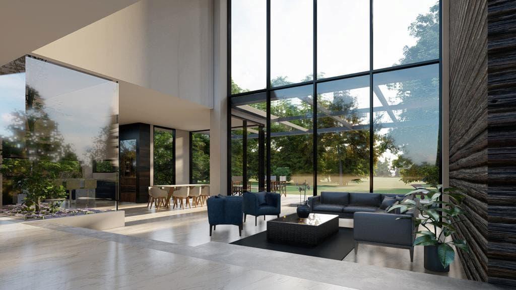 living area render 2021